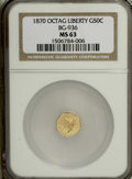 California Fractional Gold, 1870 50C Goofy Head Octagonal 50 Cents, BG-936, Low R.5, MS63NGC....