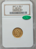 Liberty Quarter Eagles, 1847-D $2 1/2 XF45 NGC. CAC. Variety 9-N (formerly 9-M)....