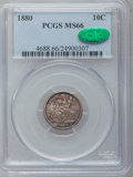 Seated Dimes, 1880 10C MS66 PCGS. CAC....
