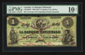 Canadian Currency: , Quebec City, PQ- La Banque Nationale $1 May 25, 1860 Ch510-100-404. ...