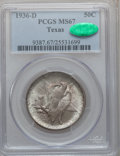 Commemorative Silver: , 1936-D 50C Texas MS67 PCGS. CAC. PCGS Population (309/13). NGCCensus: (255/10). Mintage: 9,039. Numismedia Wsl. Price for ...