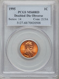 Lincoln Cents: , 1995 1C Doubled Die Obverse MS68 Red PCGS. PCGS Population(2661/1). NGC Census: (6197/36). Numismedia Wsl. Price for prob...