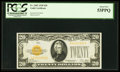 Small Size:Gold Certificates, Fr. 2402 $20 1928 Gold Certificate. PCGS About New 53PPQ.. ...