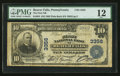 National Bank Notes:Pennsylvania, Beaver Falls, PA - $10 1902 Plain Back Fr. 624 The First NB Ch. #3356. ...
