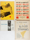 Books:Literature 1900-up, Henry Miller. Group of Four First Edition Books In Wrappers.Various, 1947-1951. Minor rubbing and wear to covers. Mild toni...(Total: 4 Items)