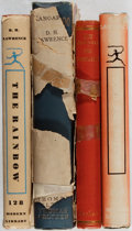 Books:Literature 1900-up, D. H. Lawrence. Group of Four Books. Various, ca. 1923-1947. Various editions. Some tattered djs. Good or better condition.... (Total: 4 Items)