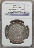 Morgan Dollars: , 1888-S $1 -- Improperly Cleaned -- NGC Details. VF. NGC Census:(6/3632). PCGS Population (15/6250). Mintage: 657,000. Numi...