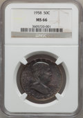 Franklin Half Dollars: , 1958 50C MS66 NGC. NGC Census: (899/29). PCGS Population (1471/33).Mintage: 4,000,000. Numismedia Wsl. Price for problem f...