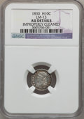 Bust Half Dimes, 1830 H10C -- Improperly Cleaned -- NGC Details. AU. LM-13. NGCCensus: (11/498). PCGS Population (25/434). Mintage: 1,200,...