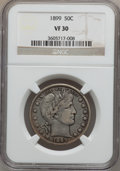 Barber Half Dollars: , 1899 50C VF30 NGC. NGC Census: (6/246). PCGS Population (20/390).Mintage: 5,538,846. Numismedia Wsl. Price for problem fre...