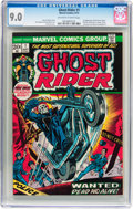 Bronze Age (1970-1979):Horror, Ghost Rider #1 (Marvel, 1973) CGC VF/NM 9.0 Off-white to whitepages....