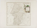 Books:Maps & Atlases, [Map]. Hand-Colored Map of Portugal. 1775. Approx. 15 x 20 inches. Binding crease through center. Very good....