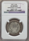 Barber Half Dollars: , 1897-S 50C -- Improperly Cleaned -- NGC Details. AG. NGC Census:(0/144). PCGS Population (39/319). Mintage: 933,900. Numis...