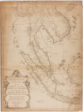Books:Maps & Atlases, [Map]. Second Part of Asia. Plate VII. The East Peninsula of India. 1755. Approx. 19 x 14 inches. Toning. Very good....