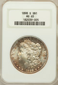 Morgan Dollars, 1898-S $1 MS65 NGC....