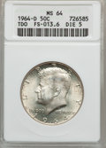 Kennedy Half Dollars: , 1964-D 50C MS64 ANACS. TDO FS-013.6 DIE-5. NGC Census: (1309/798).PCGS Population (748/1265). Mintage: 156,205,440. Numism...