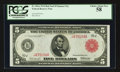 Large Size:Federal Reserve Notes, Fr. 841a $5 1914 Red Seal Federal Reserve Note PCGS Choice About New 58.. ...
