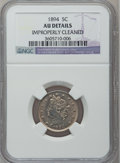 Liberty Nickels: , 1894 5C -- Improperly Cleaned -- NGC Details. AU. NGC Census:(0/268). PCGS Population (6/396). Mintage: 5,413,132. Numisme...