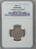 Liberty Nickels: , 1888 5C -- Harshly Cleaned -- NGC Details. VF. NGC Census: (3/314).PCGS Population (5/445). Mintage: 10,720,483. Numismedi...