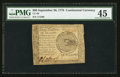 Colonial Notes:Continental Congress Issues, Continental Currency September 26, 1778 $60 PMG Choice ExtremelyFine 45.. ...