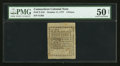 Colonial Notes:Connecticut, Uncancelled Connecticut October 11, 1777 4d PMG About Uncirculated50 Net.. ...
