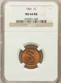 Indian Cents: , 1901 1C MS64 Red and Brown NGC. NGC Census: (654/392). PCGSPopulation (449/102). Mintage: 79,611,144. Numismedia Wsl. Pric...