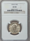 Standing Liberty Quarters: , 1926-D 25C AU58 NGC. NGC Census: (26/1959). PCGS Population(40/3045). Mintage: 1,716,000. Numismedia Wsl. Price for proble...