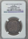 Bust Half Dollars: , 1820 50C Square Base Knob 2, Large Date -- Improperly Cleaned --NGC Details. VF. O-105. NGC Census: (0/0). PCGS Populatio...