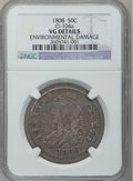 Bust Half Dollars: , 1808 50C -- Environmental Damage -- NGC Details. VG. O-104a. NGCCensus: (5/456). PCGS Population (6/610). Mintage: 1,368,6...