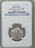 Standing Liberty Quarters: , 1926-S 25C -- Improperly Cleaned -- NGC Details. AU. NGC Census:(7/275). PCGS Population (22/406). Mintage: 2,700,000. Num...