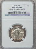 Standing Liberty Quarters: , 1926 25C -- Improperly Cleaned -- NGC Details. UNC. NGC Census:(0/639). PCGS Population (7/862). Mintage: 11,316,000. Numi...
