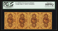 Fractional Currency:First Issue, Fr. 1230 5¢ First Issue Vertical Strip of Four PCGS About New 50PPQ.. ...
