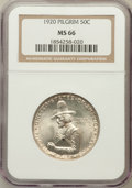 Commemorative Silver: , 1920 50C Pilgrim MS66 NGC. NGC Census: (168/16). PCGS Population(338/35). Mintage: 152,112. Numismedia Wsl. Price for prob...