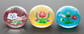 Decorative Arts, French:Other , A GROUP OF THREE BACCARAT CASED GLASS LIMITED EDITION PAPERWEIGHTS. Circa 1984. Marks: BACCARAT FRANCE 126/175 1984. 2-...(Total: 3 Items)