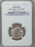 Standing Liberty Quarters: , 1923 25C -- Improperly Cleaned -- NGC Details. AU. NGC Census:(6/1224). PCGS Population (22/1558). Mintage: 9,716,000. Num...