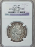 Barber Half Dollars: , 1903-S 50C -- Improperly Cleaned -- NGC Details. XF. NGC Census:(1/79). PCGS Population (16/91). Mintage: 1,920,772. Numis...