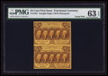 Fractional Currency:First Issue, Fr. 1281 25¢ First Issue Uncut Pair PMG Choice Uncirculated 63 EPQ.. ...