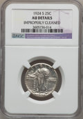 Standing Liberty Quarters: , 1924-S 25C -- Improperly Cleaned -- NGC Details. AU. W/P. NGCCensus: (4/306). PCGS Population (12/412). Mintage: 2,860,00...