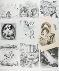 Art:Illustration Art - Mainstream, Garth Williams, illustrator. Lot of Eleven ReproductionIllustrations, Each with an Original Signature by Garth Williams.8....