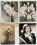 Autographs:Celebrities, Mary Pickford, Bette Davis, Agnes Moorhead, Rhonda Fleming, Jane Russell, Beryl Davis, and Connie Haines Signed Publicity Phot...