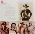 "Autographs:Celebrities, John Wayne Typed Letter Signed ""John Wayne"" and William Boyd""Hopalong Cassidy"" Photograph Inscribed ""To Ric..."