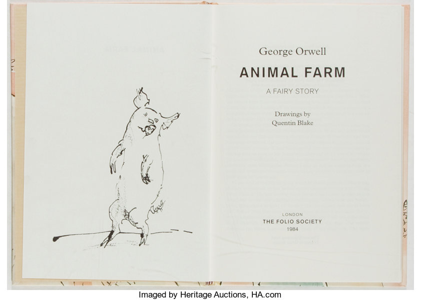 George Orwell Animal Farm A Fairy Story The Folio Society 1998 Lot 91062 Heritage Auctions