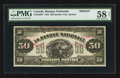 Canadian Currency: , Quebec City, PQ- La Banque Nationale $50 Nov. 2, 1922 Ch #510-22-08P Back Proof. ...