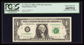 Error Notes:Mismatched Serial Numbers, Fr. 1916-G* $1 1988A Federal Reserve Note. PCGS Superb Gem New68PPQ.. ...
