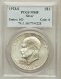 Eisenhower Dollars: , 1972-S $1 Silver MS68 PCGS. PCGS Population (1452/15). NGC Census:(376/4). Mintage: 2,193,056. Numismedia Wsl. Price for p...