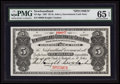 Canadian Currency: , St. John's, NF- Newfoundland Government Cash Note $5 1907 Ch # NF-6gs. Specimen. ...