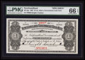 Canadian Currency: , St. John's, NF- Newfoundland Government Cash Note $1 1907 Ch #NF-5gs. Specimen. ...