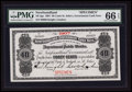 Canadian Currency: , St. John's, NF- Newfoundland Government Cash Note 40¢ 1907 Ch #NF-2gs Specimen . ...