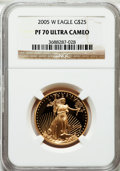 Modern Bullion Coins, 2005-W G$25 Half-Ounce Gold Eagle PR70 Ultra Cameo NGC. NGC Census:(1095). PCGS Population (216). Numismedia Wsl. Price f...