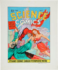 Original Comic Art:Covers, Joe Simon Science Comics #5 The Eagle Cover Re-CreationOriginal Art (undated)....